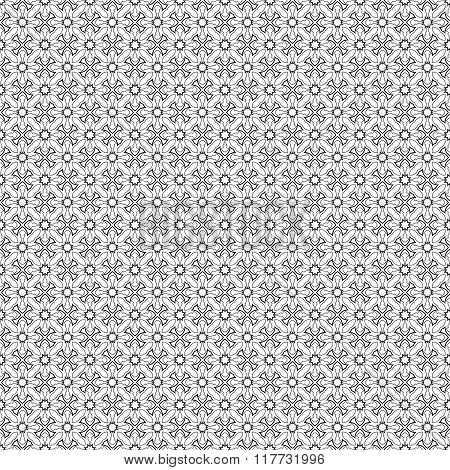 Simple vector seamless black and white background texture