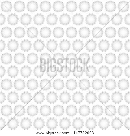 Seamless abstract 3D background - paper fans white.