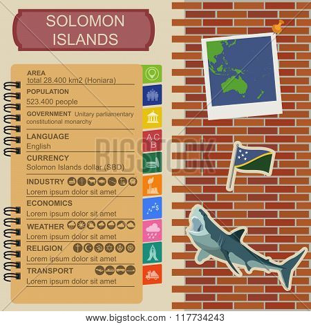 Solomon islands infographics, statistical data, sights
