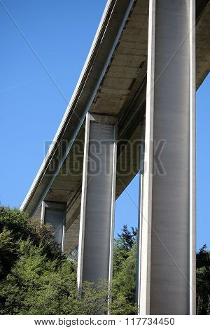Modern Tall Highway Bridge