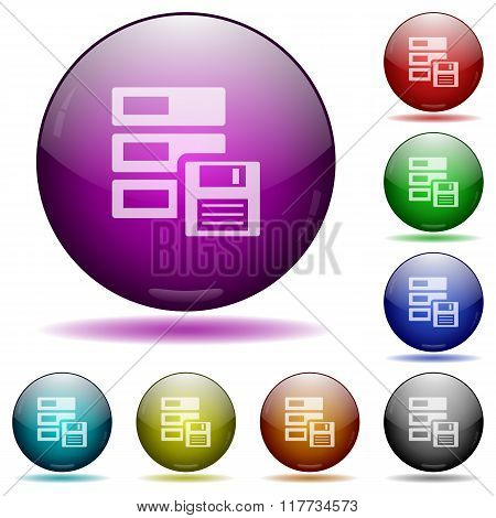 Backup Glass Sphere Buttons