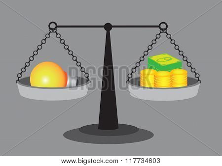 Value Of Good Idea Vector Illustration
