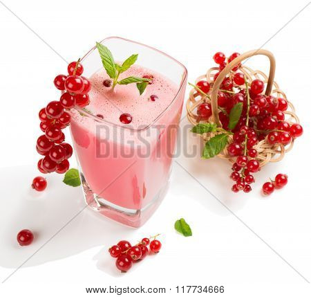 Redcurrant Smoothie In A Glass