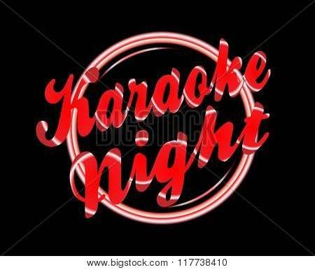 Karaoke Night Florescent Light
