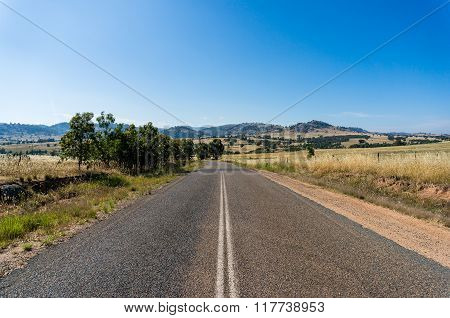 Rural Road In Australian Outback