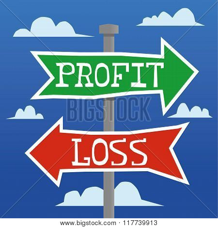 Profit Or Loss Direction Arrows