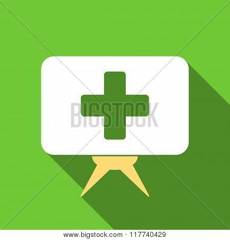 Health Care Presentation Flat Long Shadow Square Icon