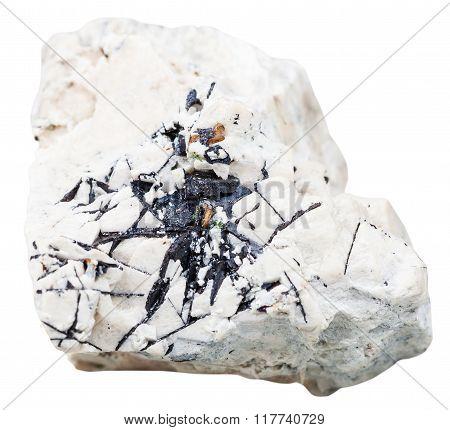 Ilmenite Stone At Dolomite Rock Isolated