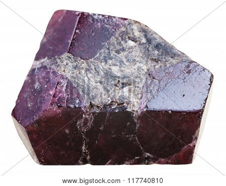 Crystal Of Garnet (almandine) Gem Stone Isolated