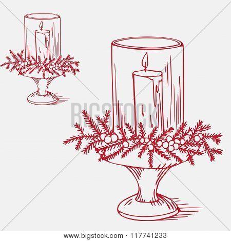 Beautiful christmas candlestick