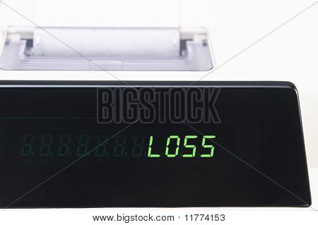 Calculator Display - Loss