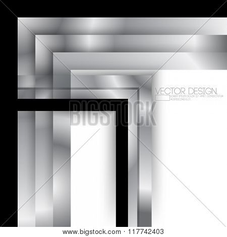 line art metallic effect business corporate material design