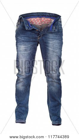 Jeans , Blue Jeans And White Background