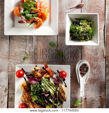 Various Seafood Salad