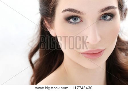 Beauty. Woman with cute makeup