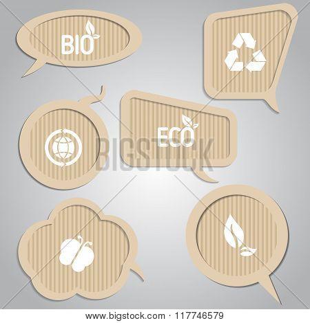 Cardboard Speech Bubbles.