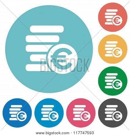 Flat Euro Coins Icons