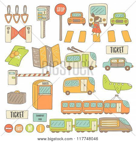 Transport objects set