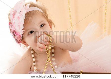 portrait beautiful female baby