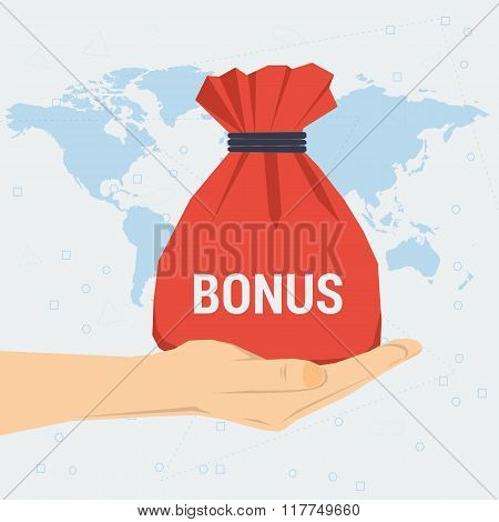 Womans Hand With Bag Gift Bonus