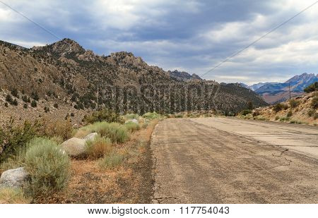 Mountain Range And Dramatic Sky, California