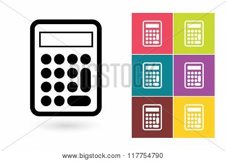 Calculator vector icon or calculator symbol