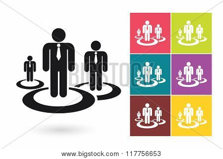 Human resources management vector icon