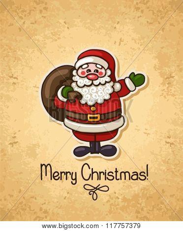 Santa Claus on vintage background