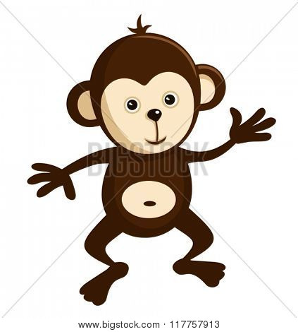 CUTE MONKEY VECTOR GRAPHIC ILLUSTRATION