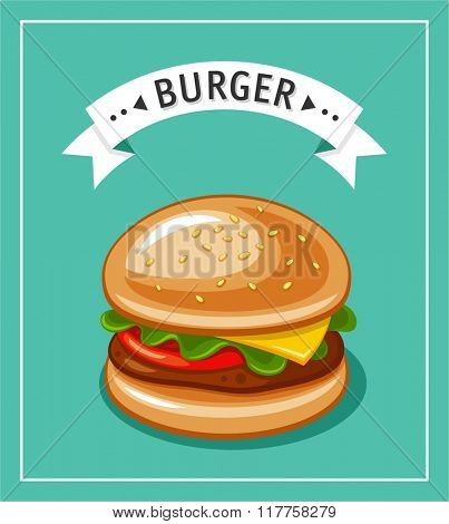 Burger. Vector Hamburger illustration