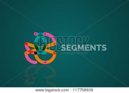 Vector outline minimal abstract geometric logo