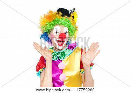 Beautiful Young Woman As Clown