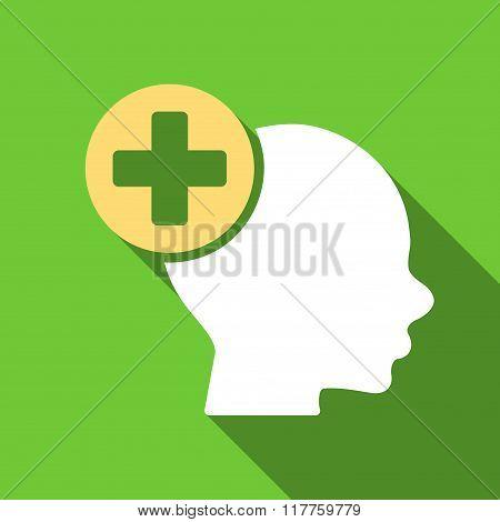 Head Treatment Flat Long Shadow Square Icon