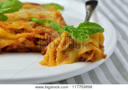 Bite Of Delicious Lasagne