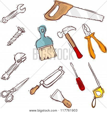 Vector Illustration Of A Tool Icon Series Set