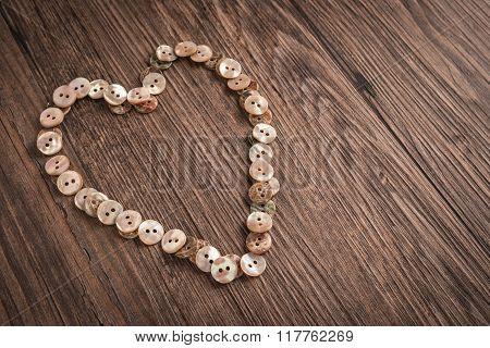Valentine Heart Buttons Textiles