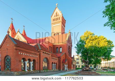 Famous Landmark In The Center Of Minsk Church Of Saints Simon And Helena