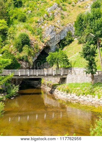 Pivka River swallow hole