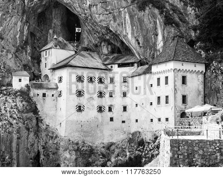 Predjama Castle built in the cave