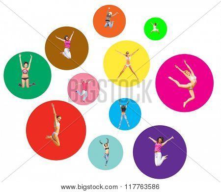 Colorful Idea Team Achievement