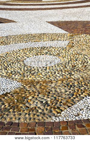 Wall Milan  In Italy Old   Church Concrete Mosaic