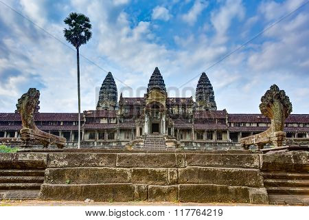 Angkor Wat Temple from northen gate, Siem reap, Cambodia.