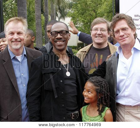 Karey Kirkpatrick, Eddie Murphy, Yara Shahidi and Thomas Haden Church at the Los Angeles premiere of