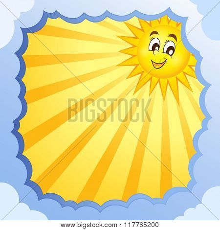 Cloudy frame with summer theme 5 - eps10 vector illustration.