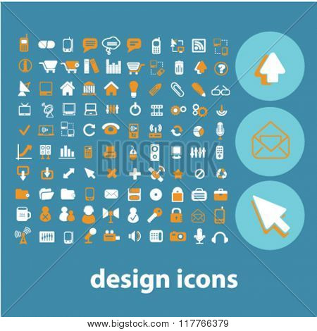 design icons, signs vector concept set
