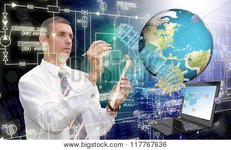 Globalization Connection Internet Technology.generation