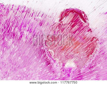 Abstraction With Beautiful Pink Ice