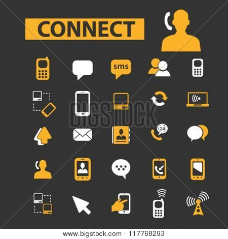 connect, talking, business communication, communication concept, communication, connection, technology, mobile icons