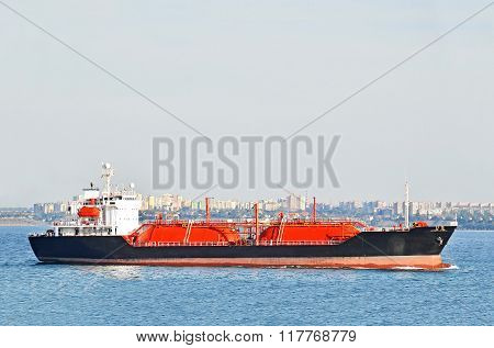 Lpg (liquid Petroleum Gas) Tanker At Sea