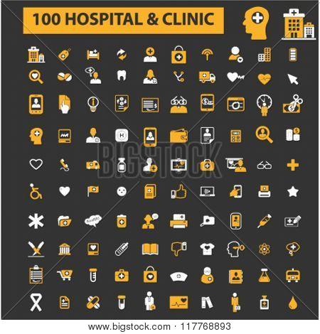 hospital, clinic, medicine icons
